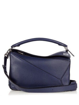 bag leather bag leather blue
