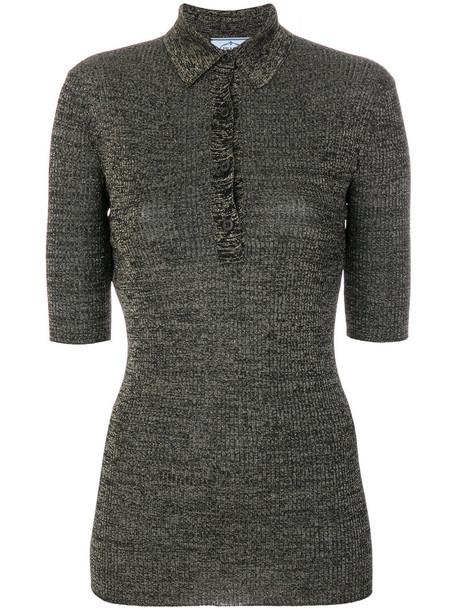 Prada shirt polo shirt metallic women black top