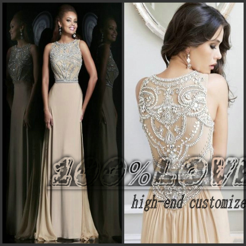 Free Shipping Rhinestone Crystal Beading Nude Masquerade Prom Dresses-in Prom Dresses from Apparel & Accessories on Aliexpress.com