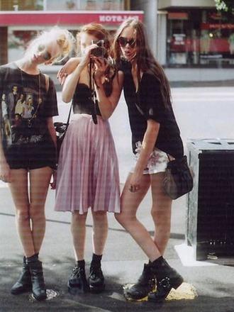 skirt grunge pale pink