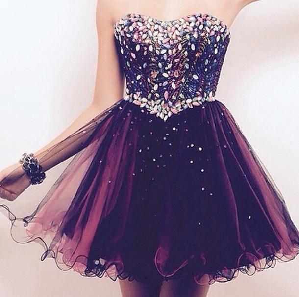 dress prom short dress glitter dress