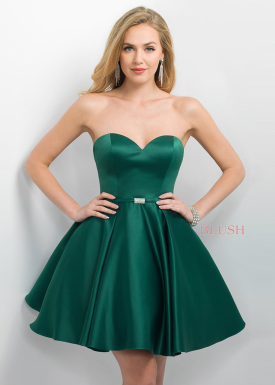 Short Emerald Homecoming Dresses