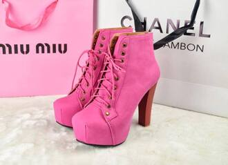shoes pink jeffrey campbell wooden heel