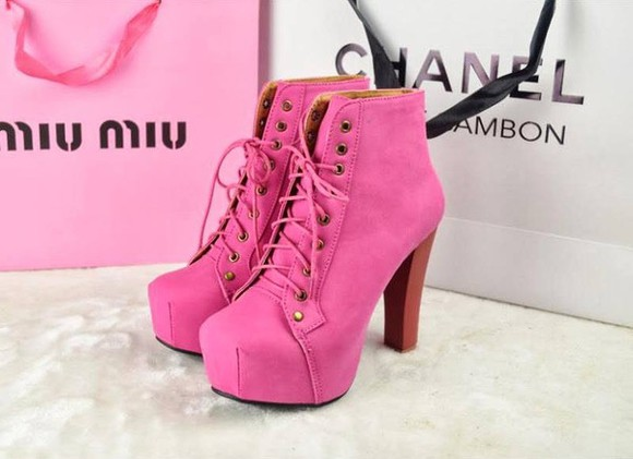 shoes wooden heel jeffrey campbell pink
