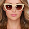 Quay kitti beige cat-eye sunglasses