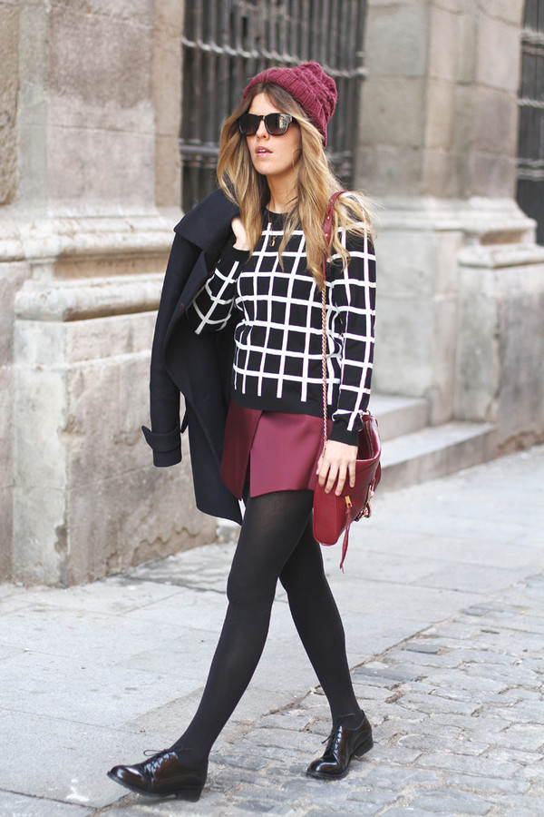 sweater chess sweater trendy spain blogger streetstyle Choies