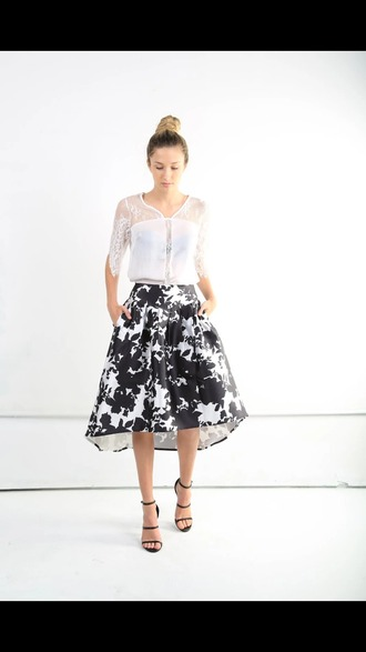 skirt floral skirt high-low skirt
