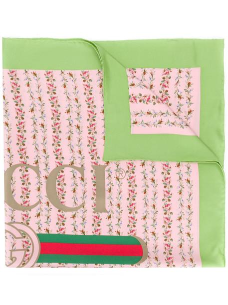 gucci rose women scarf silk scarf print silk purple pink