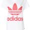Adidas - trefoil logo t-shirt - women - cotton - 38, white, cotton