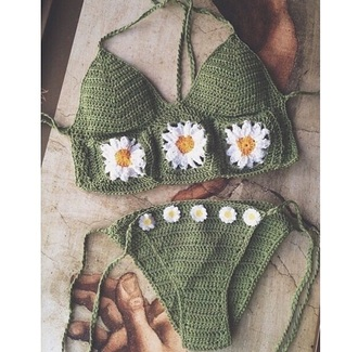 swimwear bikini hippie boho crochet hippy bohemian gorgeous crochet swimwear
