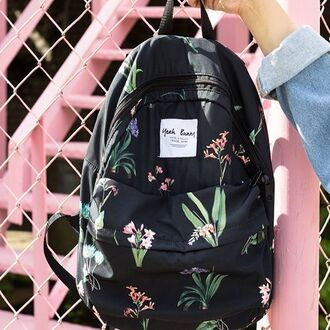bag yeah bunny backpack floral travel cute girly romantic