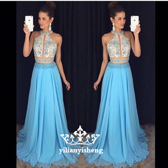 dress blue prom dress long prom dress sexy prom dress halter prom dres sleeveless prom dress evening dress beading prom dreses backless prom dress sexy party dresses