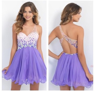 dress homecoming dress one shoulder purple purple dress