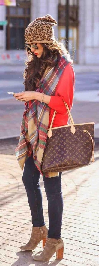 bag louis vuitton winter outfits fall outfits fashion scarf tumblr