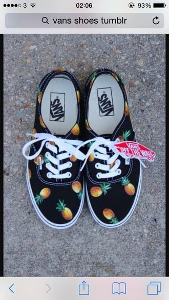 shoes pineapple print vans classic vans shoes pineapple