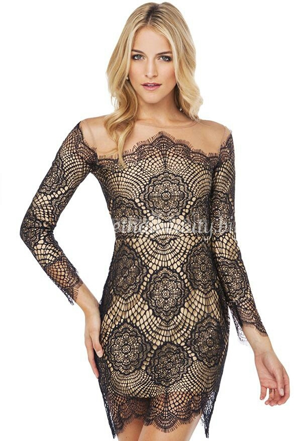 Lethalbeauty ? black/nude lace dress