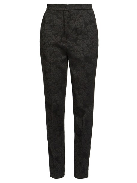 Dolce & Gabbana high jacquard black pants
