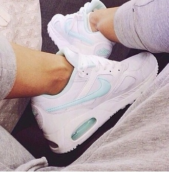 shoes blue white shoes nike sneakers nike airmax nike air white shoes