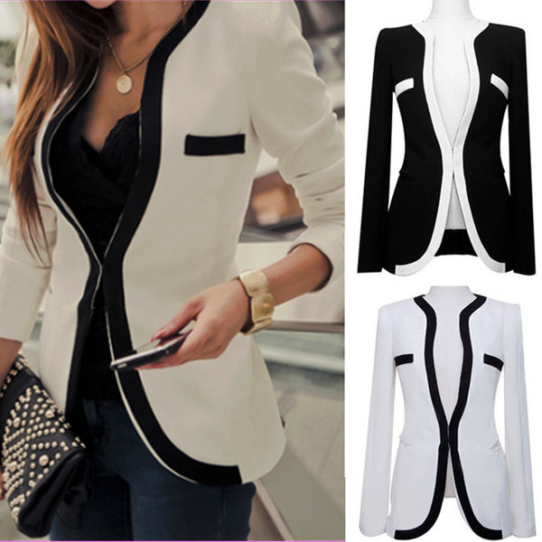 jacket womenjacket black and white cantfindit ulzzang