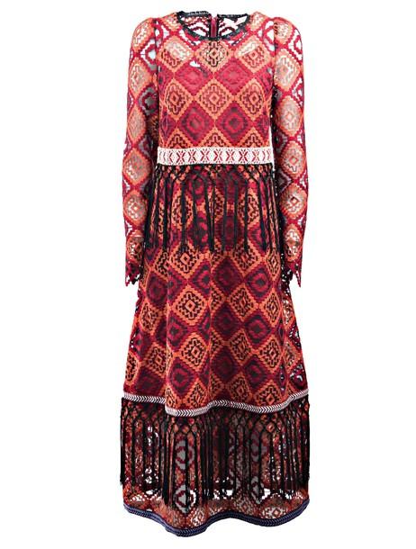 Miahatami dress midi dress midi red