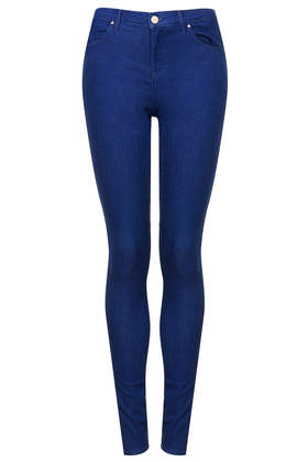 MOTO Pansy Blue Leigh Jeans - Jeans  - Clothing  - Topshop