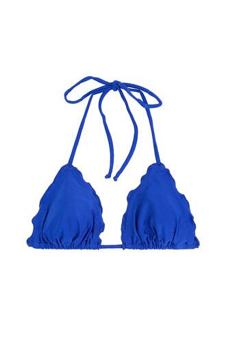 bikini bikini top triangle bikini triangle blue swimwear