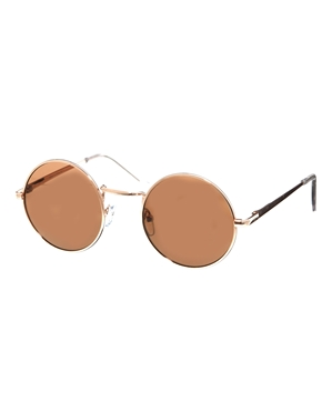 ASOS | ASOS – Sonnenbrille aus Metall mit kleinen, runden Gläsern bei ASOS