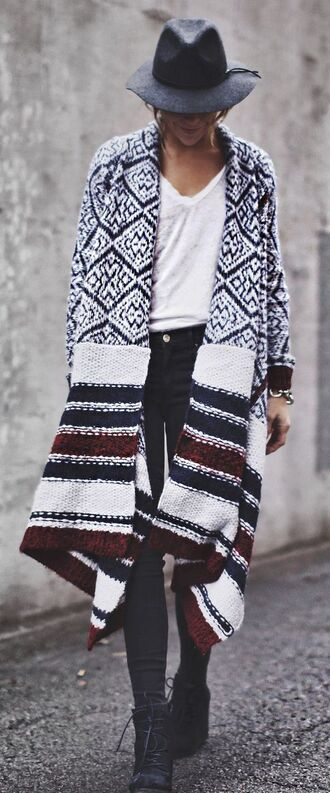 cardigan oversized cardigan cape stripes striped coat wool coat wool blue red