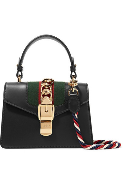 gucci mini bag shoulder bag leather black