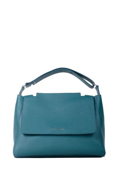 bag shoulder bag leather blue green