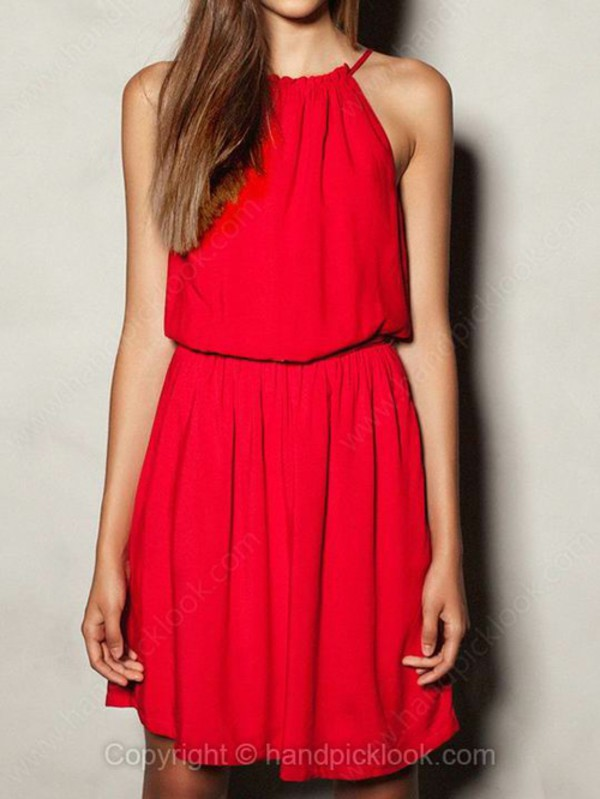 red dress red carpet dress halter dress red gown summer dress halter dress