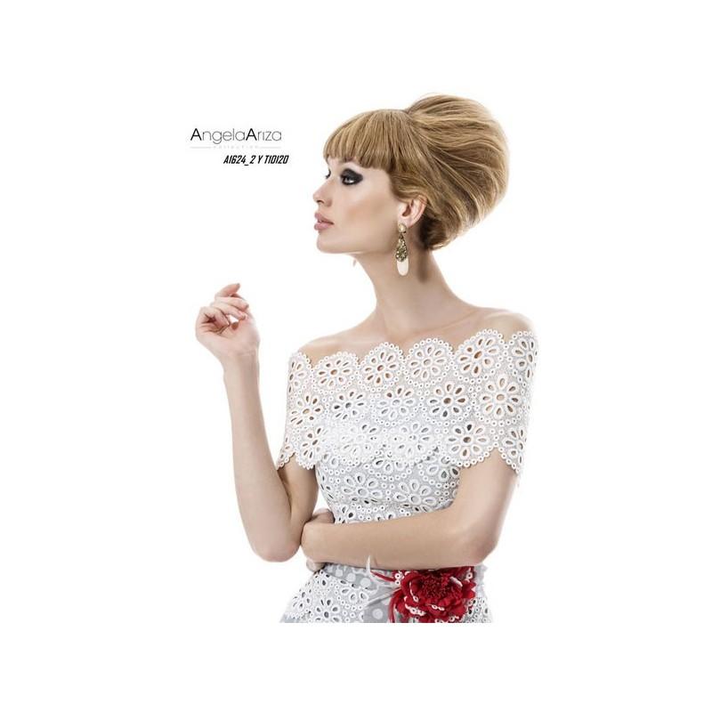 Vestido de fiesta de Angela Ariza Modelo A1624_2-Y-T10120 - 2014 Vestido - Tienda nupcial con estilo del cordón