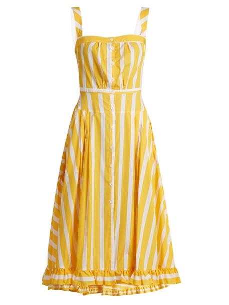 THIERRY COLSON dress cotton yellow