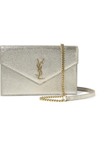 metallic bag shoulder bag leather gold