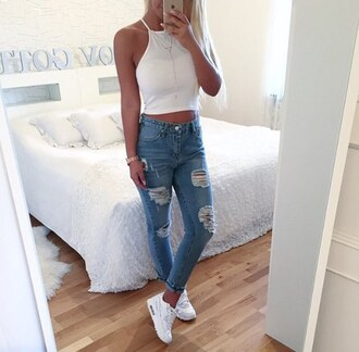 jeans beautiful clothes boyfriend jeans pretty cool girl shoes