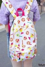 bag,backpack,white,kawaii,sailor moon,anime,pastel,pink,kawaii bag
