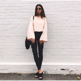 blouse pink sweater shirt pastel sweatshirt white top pullover amazing stylish classic classy girly