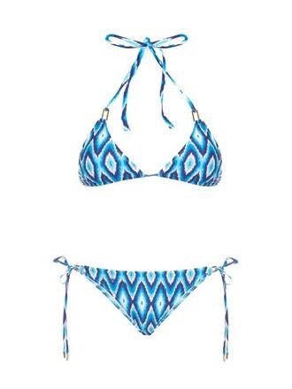bikini triangle bikini triangle blue swimwear