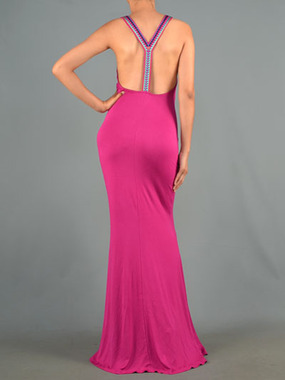 Paint Me Magenta Maxi Dress
