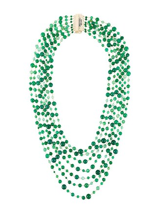 necklace green jewels