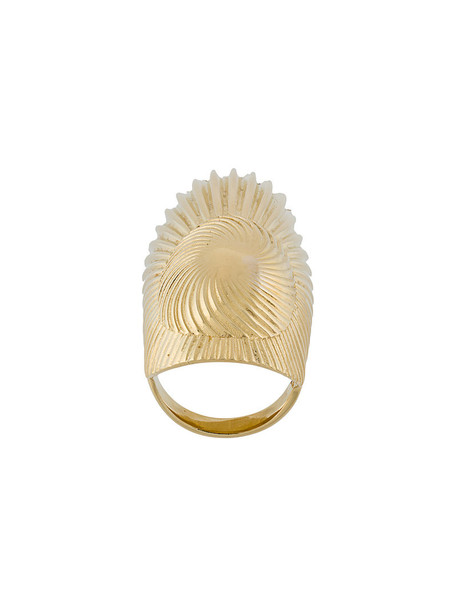 women ring gold silver grey metallic jewels