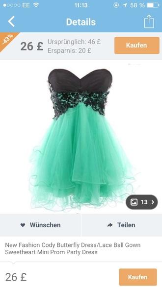 dress pretty short style neon blue