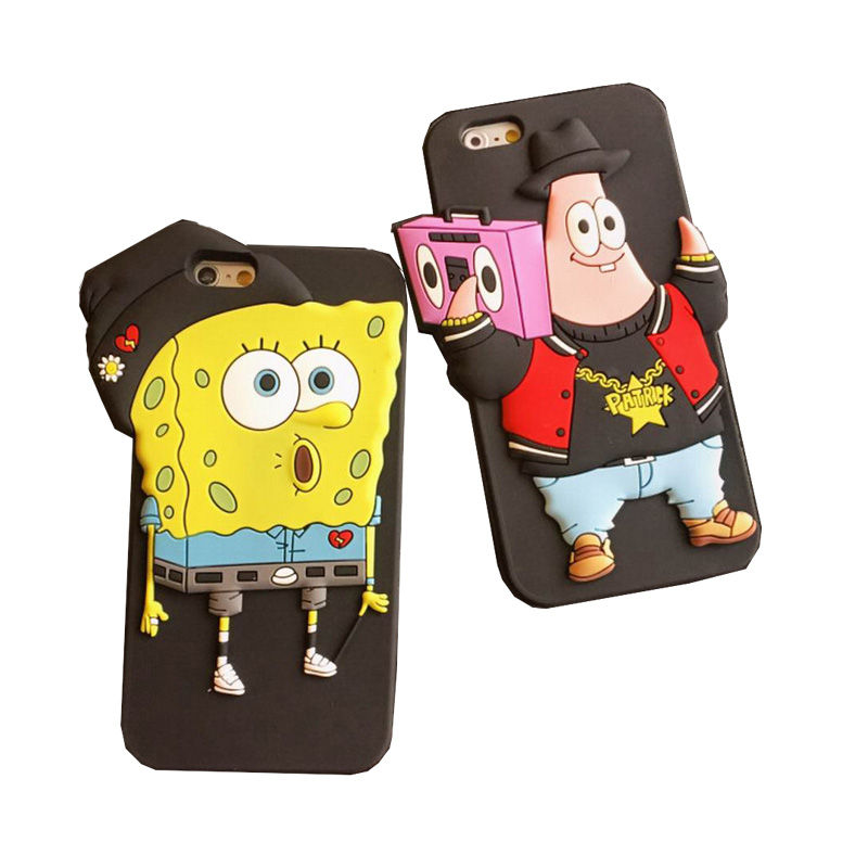 new arrival 36614 1630e Hot Sale Best Friend SpongeBob Patrick Star Protective Soft Silicon Back  cover case Phone case for Iphone 6 plus 5.5'' YC1075-in Phone Cases from ...