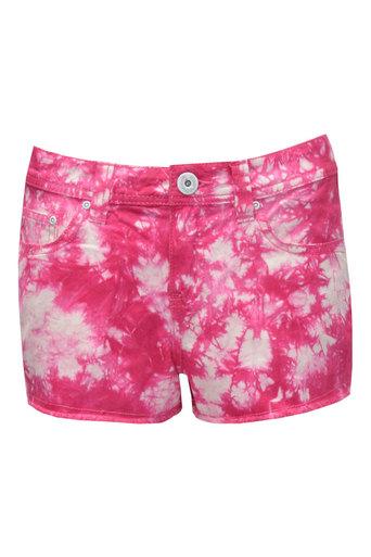 Ladies Daya Tie-Dye Cut-Off Short In Pink | Pop Couture