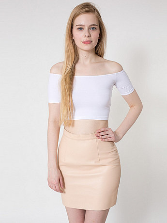 The Leather Mini Skirt | American Apparel