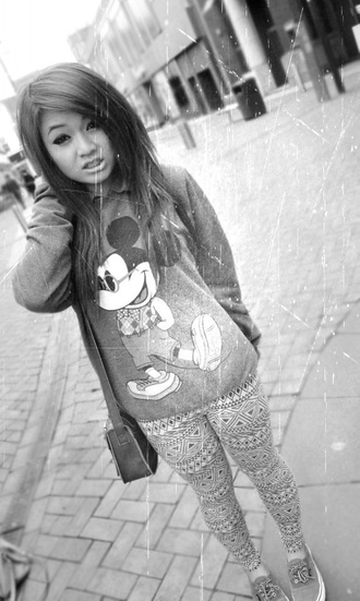 sweater mickey mouse cute dope jacket long tumblr