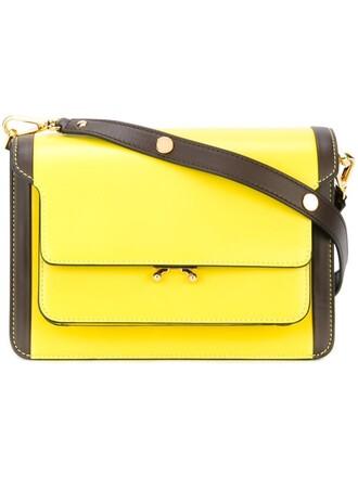 bag shoulder bag yellow orange