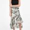 Erdem women`s cerena lurex floral skirt