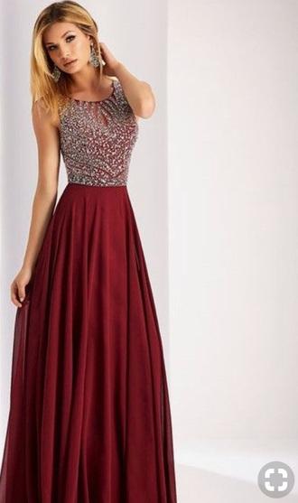dress burgundy prom dress