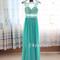 A-line green lace long prom dress,formal dress - 24prom